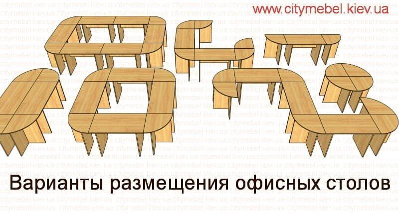 Варианты размещения офисных столов