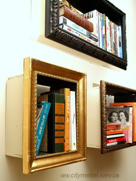 shelves in the form of frames