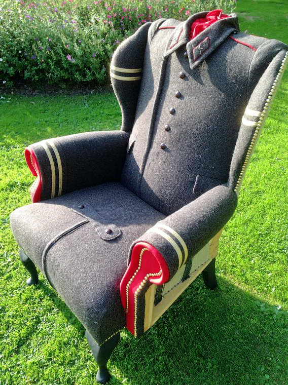 chair of the military coat