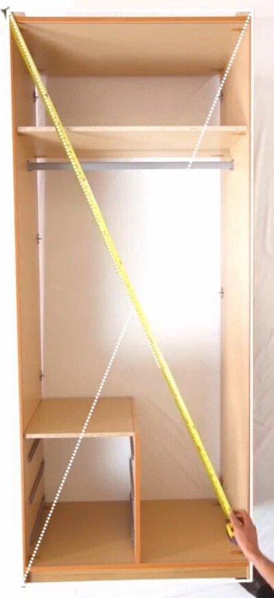 диагональ шкафа