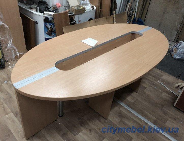 овальный стол для переговоров под заказ