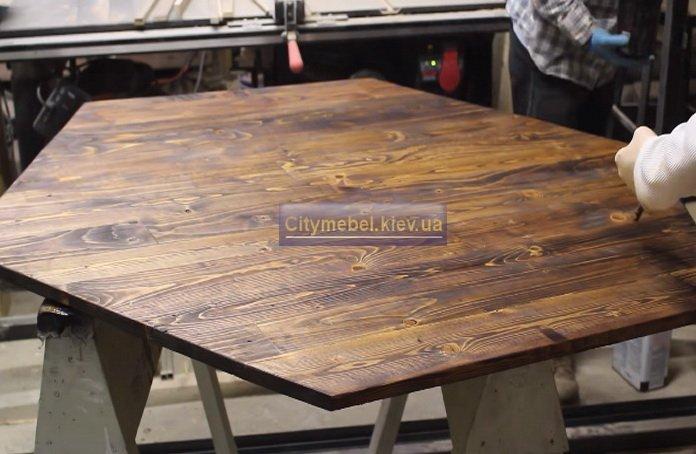 деревянный стол лофт под заказ