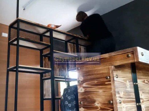 Мебель лофт из массива дерева в Киеве