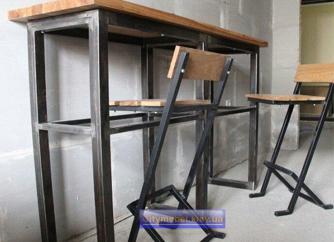 Мебель в кафе лофт