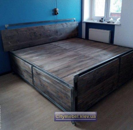 кровать лофт