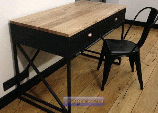офисная мебель лофт под заказ из массива дерева