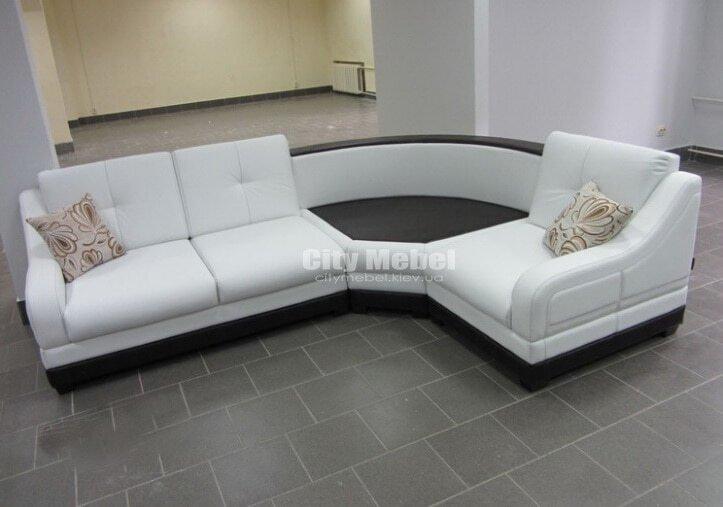 Круглая модульная угловой диван в кухню под заказ