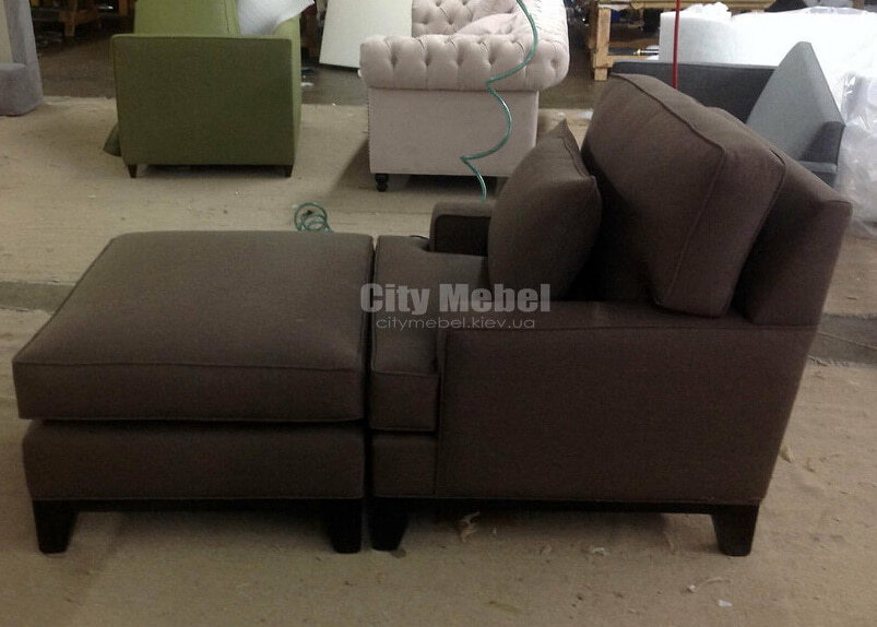 кресло диван с пуфом