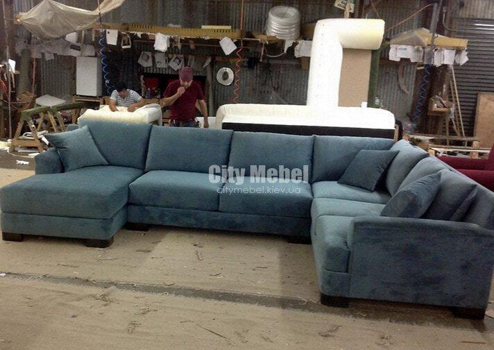 С-образные нестандартные диваны со спальным местом под заказ Киев