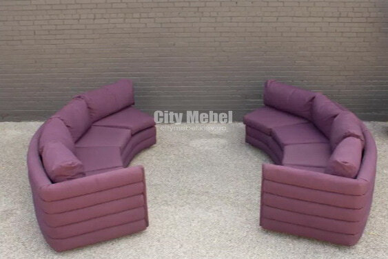 круглый диван сиреневого цвета модульный на заказ
