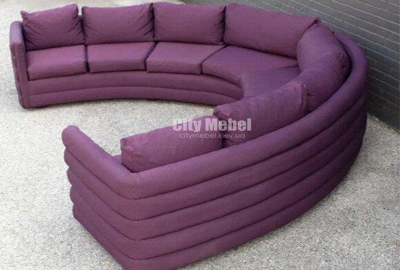 сиреневый диван круглый под заказ