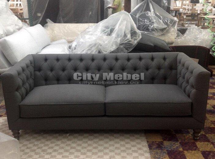дизайнерский прямой диван с высокой спинкой