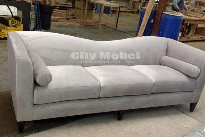 прямой диван волной на заказ