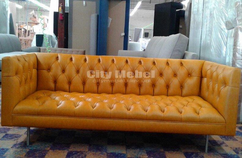 прямой диван в коридор на заказ