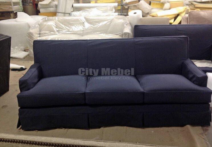 вельветовый нестандарный прямой диван