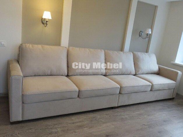 бежевый прямой диван
