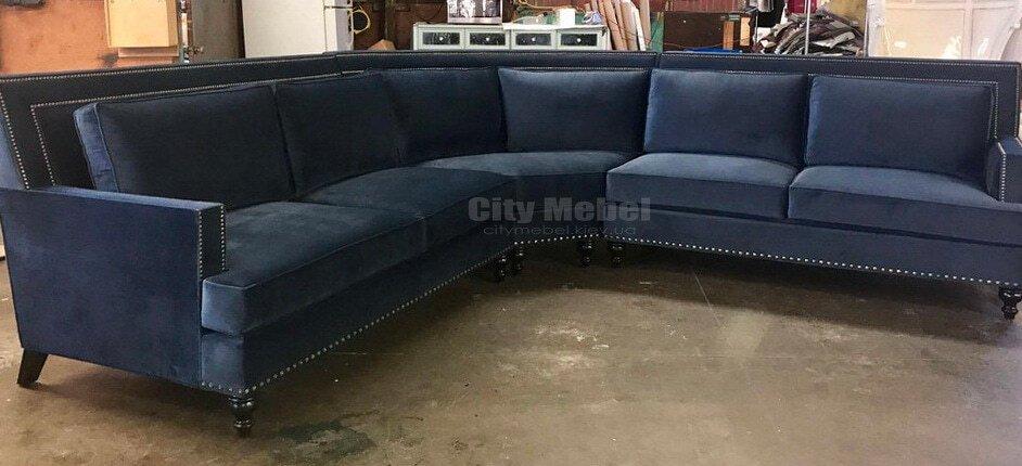 стильный угловой диван для гостинной на заказ