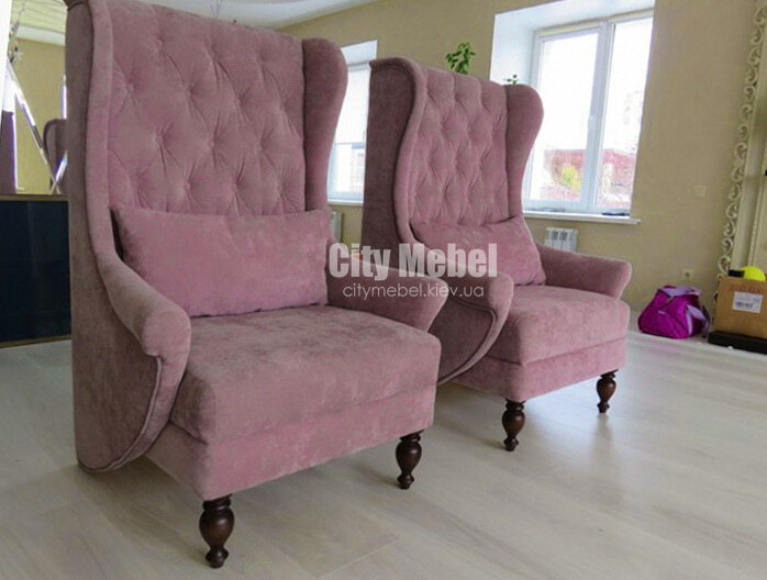 дизайнерское кресло на заказ в англиском стиле