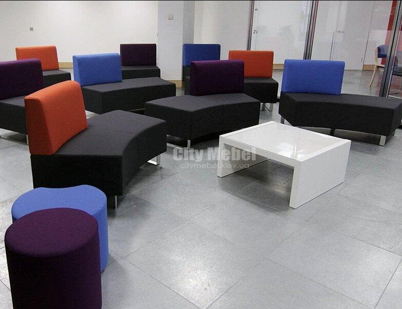 Радиусные диваны в учебный центр