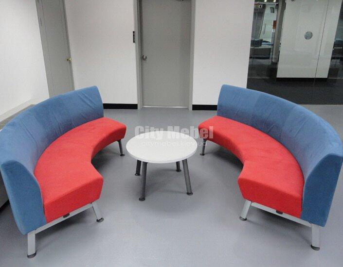 радиусная мягкая мебель в зал ожидания