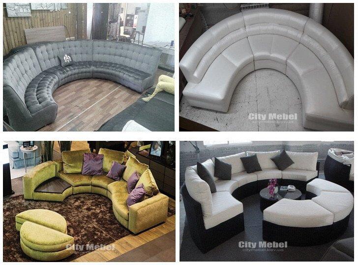 полукруглые диваны под заказ Киев