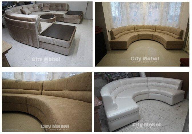 круглые диваны под заказ в Киеве