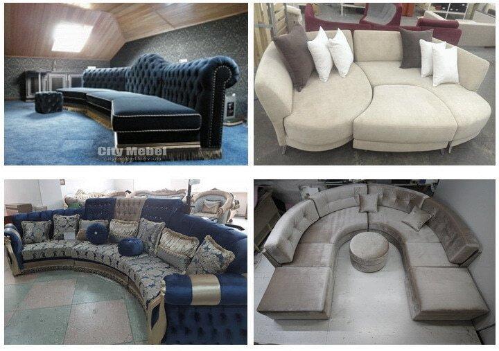 радиусный диван под заказ Чернигов
