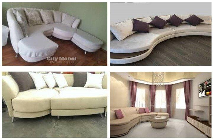 белый круглй диван