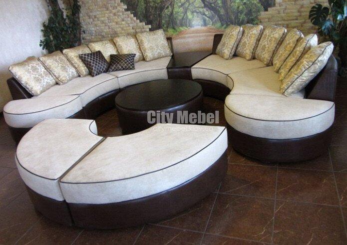 круглый диван для отеля