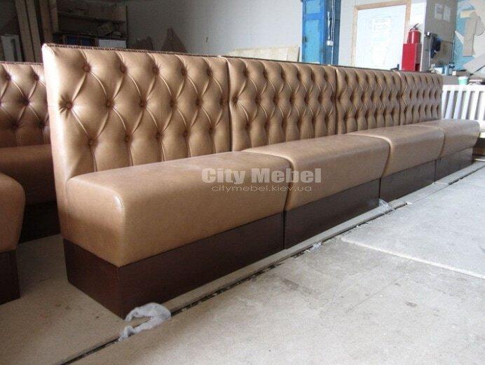 дизайн проект прямого дивана в ресторан