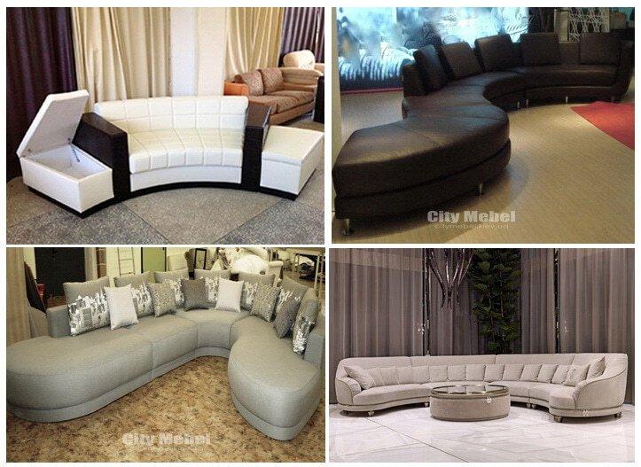 дизайн ркуглого дивана