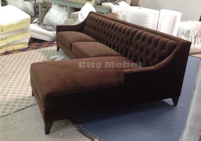 угловой диван для гостинной под заказ недорого