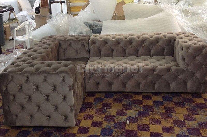 угловой диван для гостинной под заказ