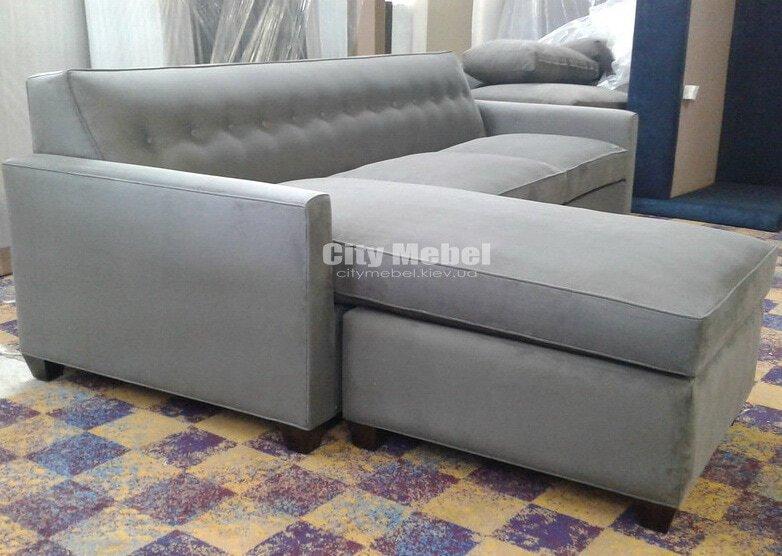 серый угловой диван под заказ